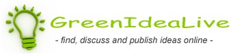 GreenIdeaLive - Find, discuss and publish ideas online